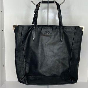 Coach XL Black Leather Tote Bag